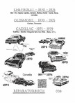 GM, Olds, Cadillac- Seville 75-79
